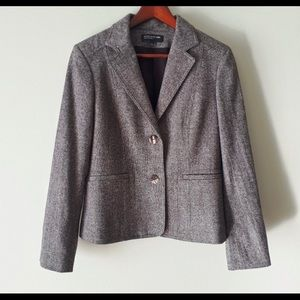 Jones New York Collection Brown Tweed Blazer